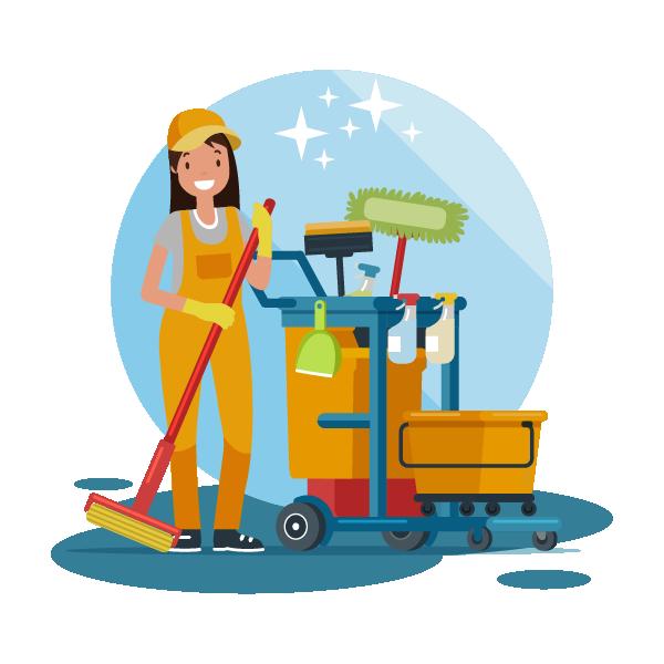 Pictogramme nettoyage agent d'entretien