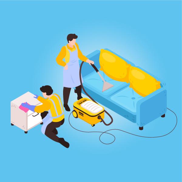 Illustration nettoyage industriel