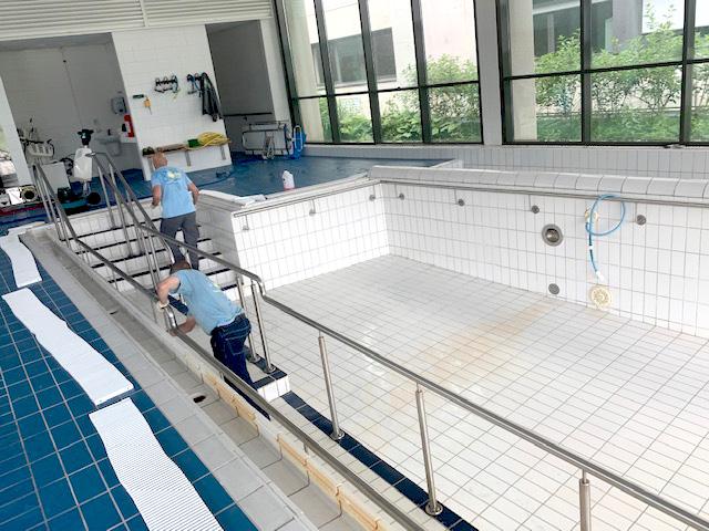 Nettoyage dans un établissement de santé
