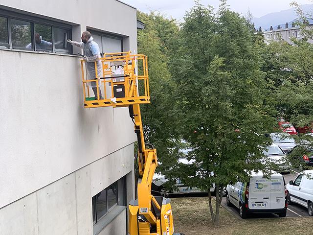 Nettoyage des vitres extérieures